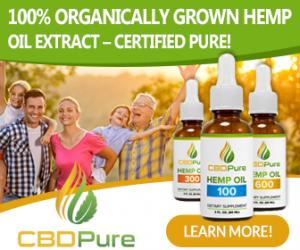100& Organically Grown Hemp Oil Extract CBDPure