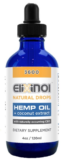 Elixinol CBD bottle