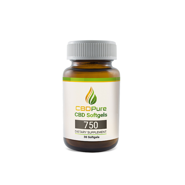 CBDPure Softgels 750 bottle
