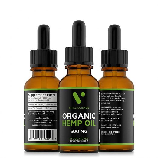 Vital Science Organic Hemp Oil-Amazon